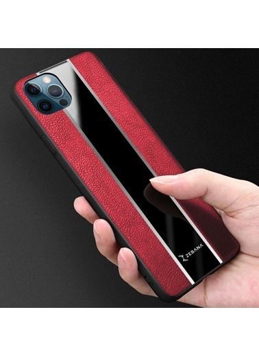 MobilCadde Mobil Cadde Zebana iPhone 12 / 12 Pro 6.1 inÇ Premium Deri Kılıf Siyah